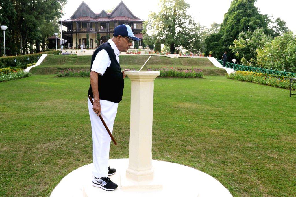 President Pranab Mukherjee at Retreat, Mashobra in Shimla on June 4, 2016. - Pranab Mukherjee