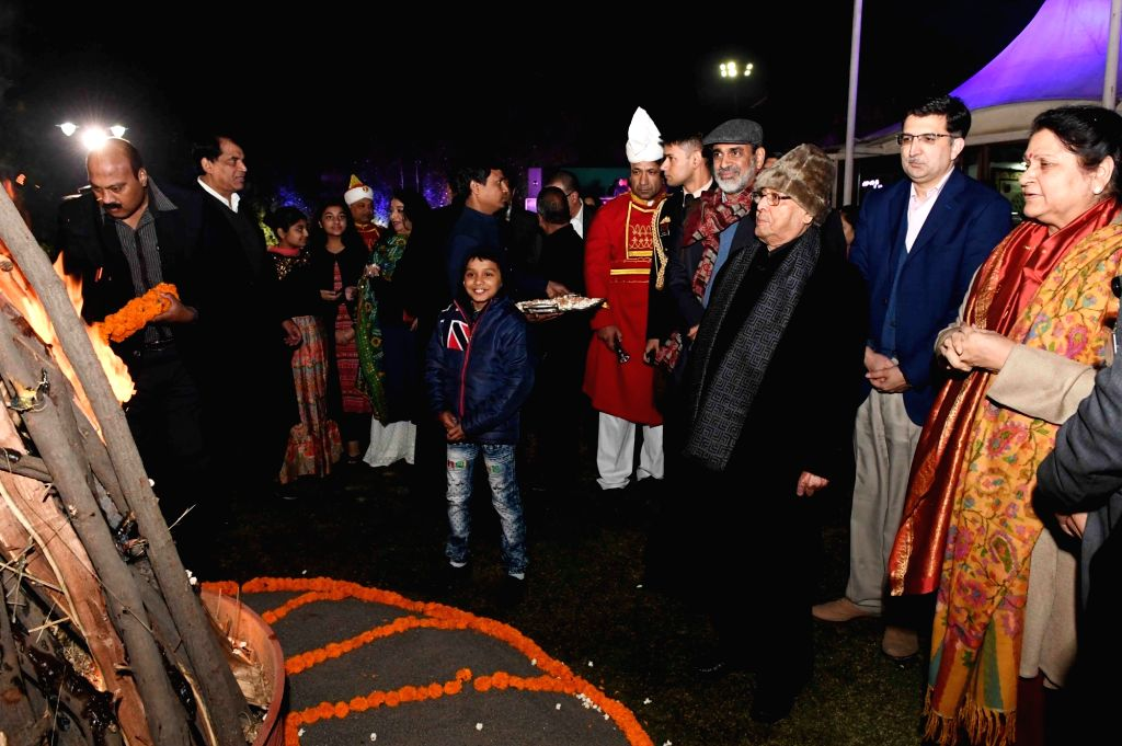 President Pranab Mukherjee celebrates Lohri at President's Estate in New Delhi, on Jan 13, 2017. - Pranab Mukherjee