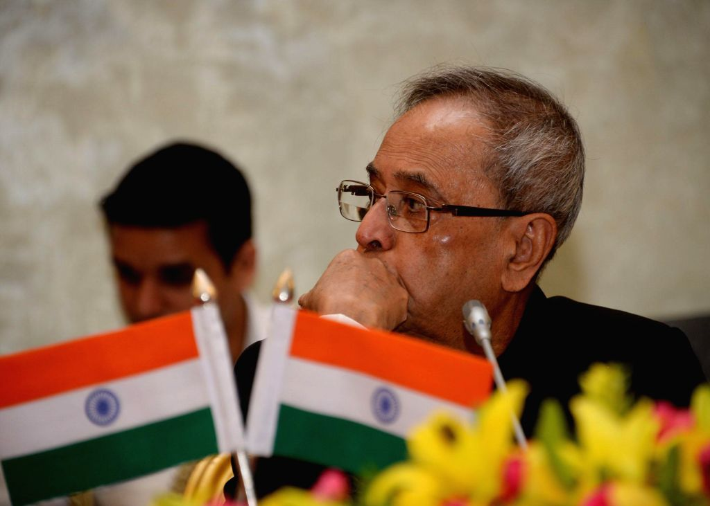 President Pranab Mukherjee during `Conference of Chairman, Board of Governors and Directors of Indian Institute of Technology` at Rashtrapati Bhavan in New Delhi on Aug 22, 2014. - Pranab Mukherjee