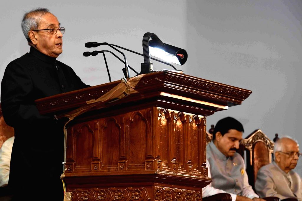 President Pranab Mukherjee during inauguration of Bose Institute's Unified Campus at Bose Institute in Kolkata, on June 29, 2017. - Pranab Mukherjee