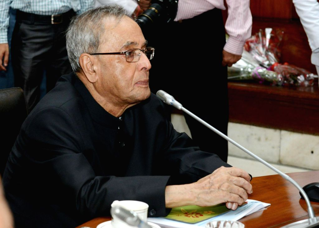 President Pranab Mukherjee during launch of newly designed website of President of India, and launch of a film on annual activities conducted in Rashtrapati Bhavan, at Rashtrapati Bhavan in New Delhi - Pranab Mukherjee