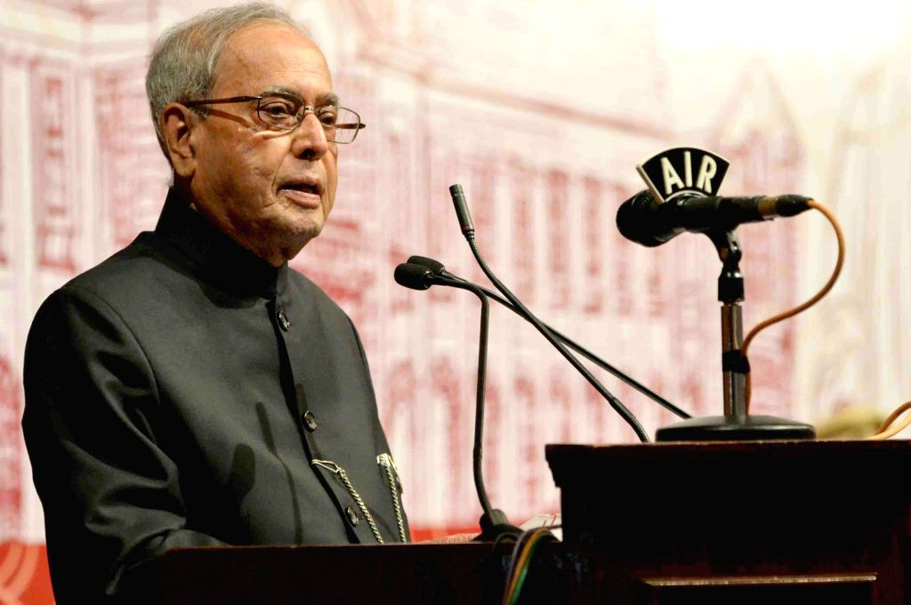 President Pranab Mukherjee during the annual convocation of Indian Institute of Science (IISc) in Bengaluru on July 5, 2017. - Pranab Mukherjee