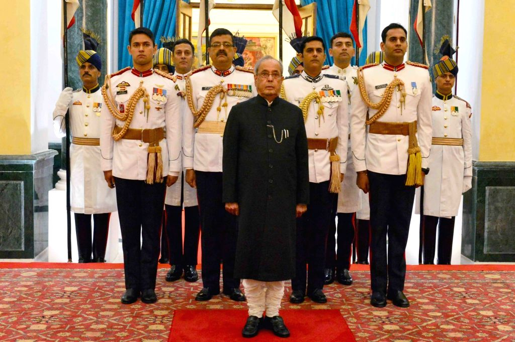 President Pranab Mukherjee during the 'At Home' function organised on the occasion of 70th Independence Day at Rashtrapati Bhavan, in New Delhi on Aug 15, 2016. - Pranab Mukherjee