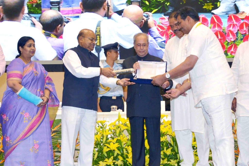 President Pranab Mukherjee presents Dr. Ambedkar National  Award  For the Year 2011,2012 & 2014 at Vigyan Bhavan in New Delhi on May 26, 2017. - Pranab Mukherjee