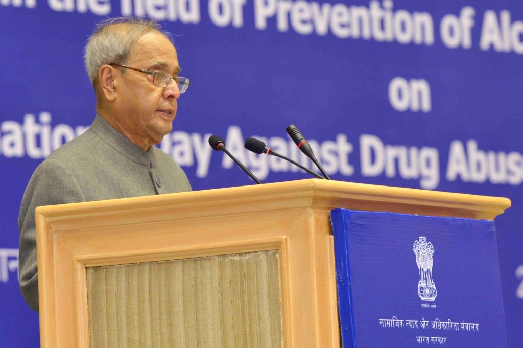President Pranab Mukherjee presents National Awards for outstanding services in the field of Prevention of Alcoholism and Substance (Drug) Abuse on International Day against Drug Abuse and ... - Pranab Mukherjee