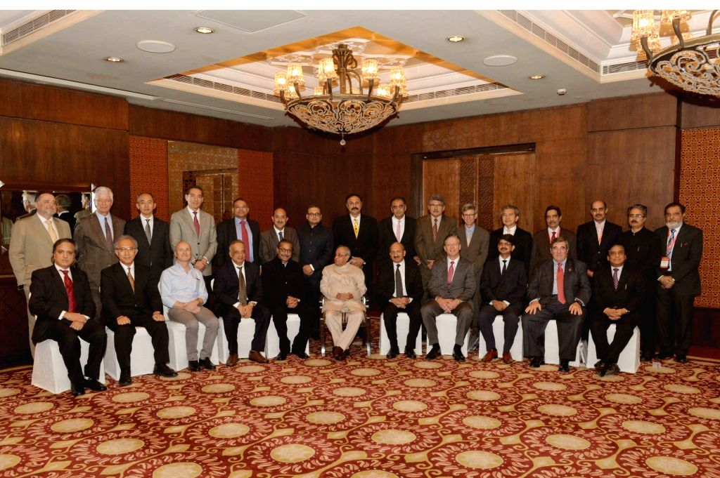 President Pranab Mukherjee with Dr. Naresh Trehan during inauguration of American Association of Thoracic Surgeons & International Coronary Congress (AATSICC) at New Delhi on Nov. 12, ... - Pranab Mukherjee