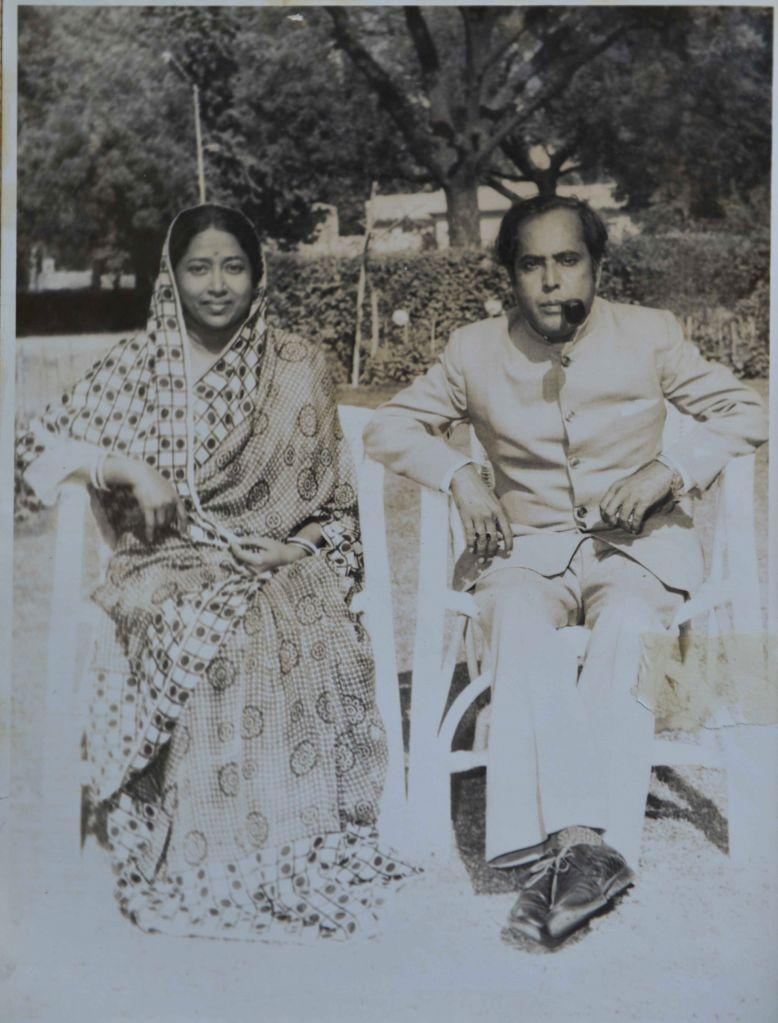 President Pranab Mukherjee with wife Suvra at their former residence at 11 Ashoka Road, in 1979. (File Photo: IANS/RB) - Pranab Mukherjee
