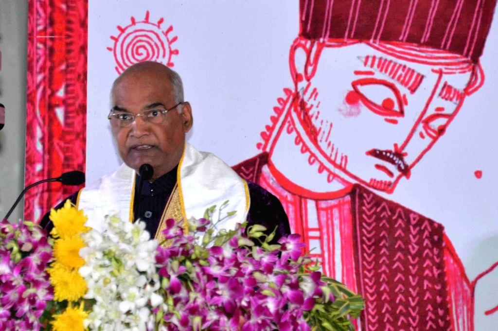 President Ram Nath Kovind addresses at the first convocation of AIIMS, Rishikesh in Uttarakhand on Nov 3, 2018. - Nath Kovind
