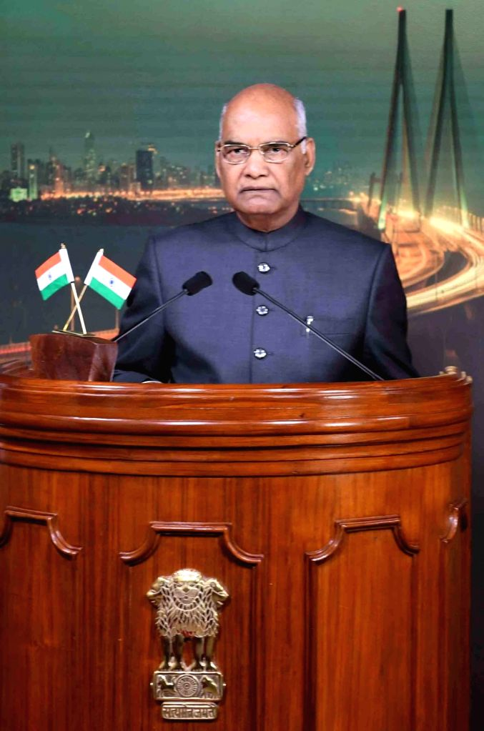 President Ram Nath Kovind addresses to the nation on the eve of Independence Day in New Delhi on Aug 14, 2017. - Nath Kovind