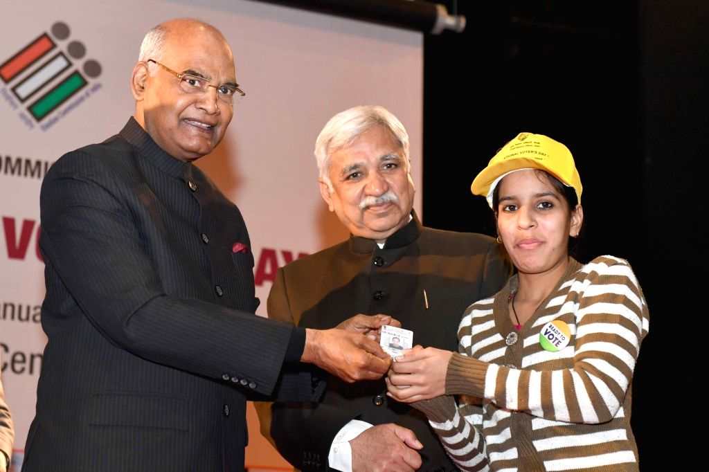 President Ram Nath Kovind and Chief Election Commissioner Sunil Arora at the 9th National Voters' Day programme, in New Delhi on January 25, 2019. - Nath Kovind