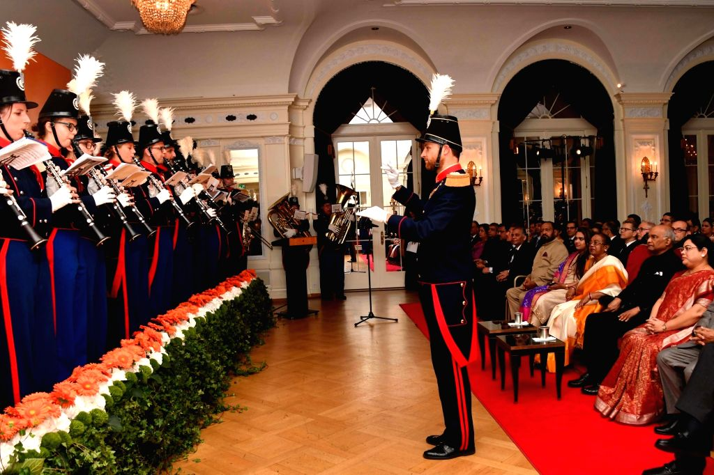 President Ram Nath Kovind and his wife Savita Kovind at the Indian Community Reception in Bern, Switzerland on Sep 12, 2019. - Nath Kovind