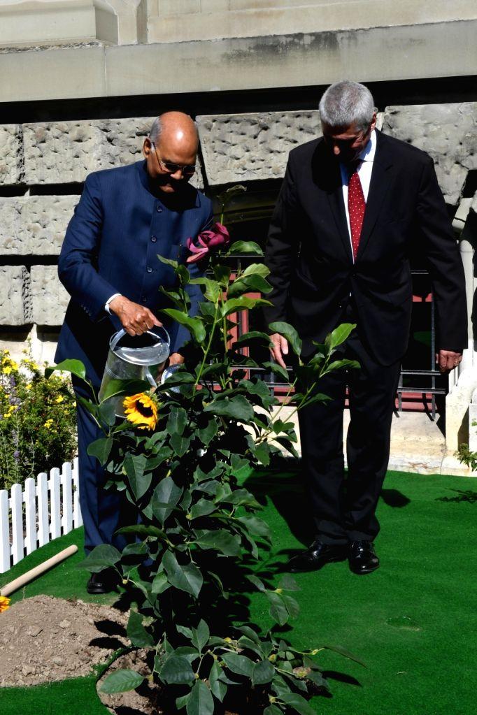 President Ram Nath Kovind and University of Bern Rector Christian Leumann during a programme at the university in Bern, Switzerland on Sep 13, 2019. - Nath Kovind