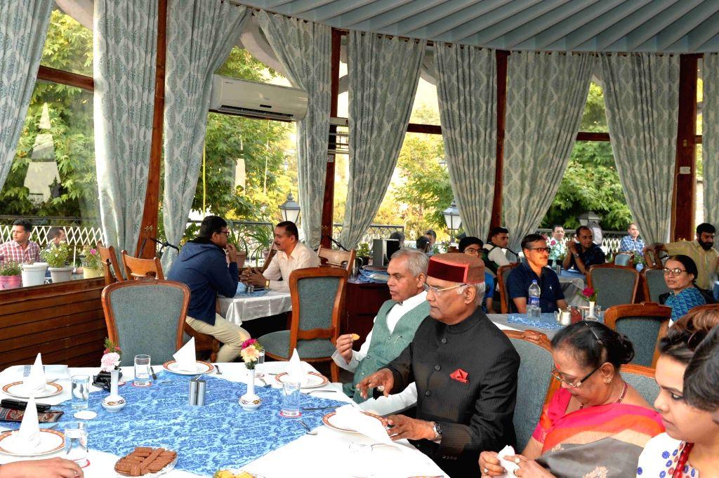 President Ram Nath Kovind at a restaurant in Shimla's landmark The Ridge on May 22, 2018. - Nath Kovind
