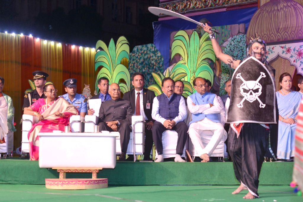 President Ram Nath Kovind at during Ram Leela at Shree Ramlila Committee in New Delhi's Indraprastha on Oct 8, 2019. - Nath Kovind