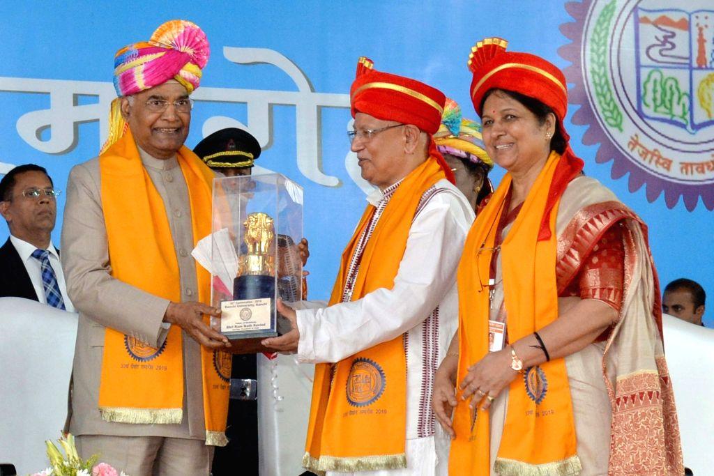 President Ram Nath Kovind at the 33rd Convocation of Ranchi University, on Sep 30, 2019. - Nath Kovind