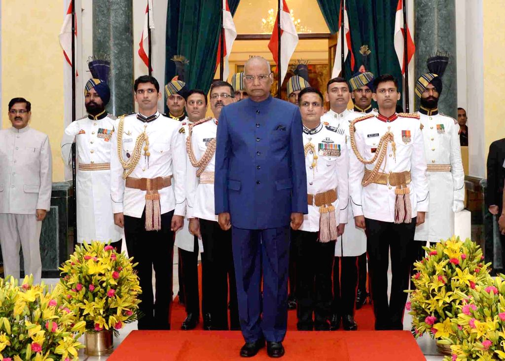 President Ram Nath Kovind at the 'At Home' function organised on the occasion of 71st Independence Day at Rashtrapati Bhavan in New Delhi on Aug 15, 2017. - Nath Kovind