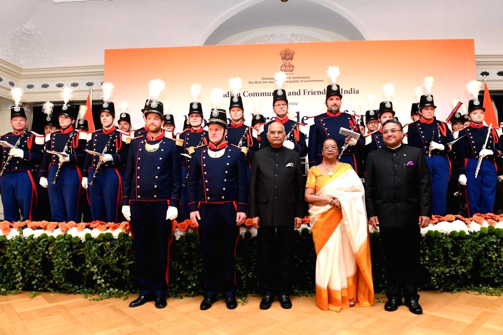 President Ram Nath Kovind at the Indian Community Reception in Bern, Switzerland on Sep 12, 2019. - Nath Kovind