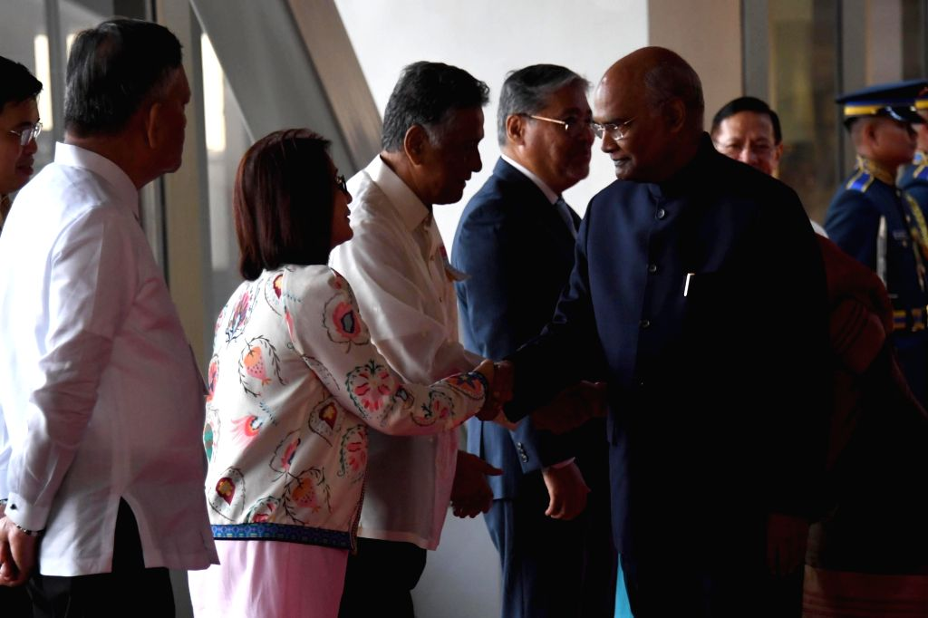 President Ram Nath Kovind being received on his arrival at Aquino Ninoy International Airport in Manila, Philippines on Oct 17, 2019. - Nath Kovind