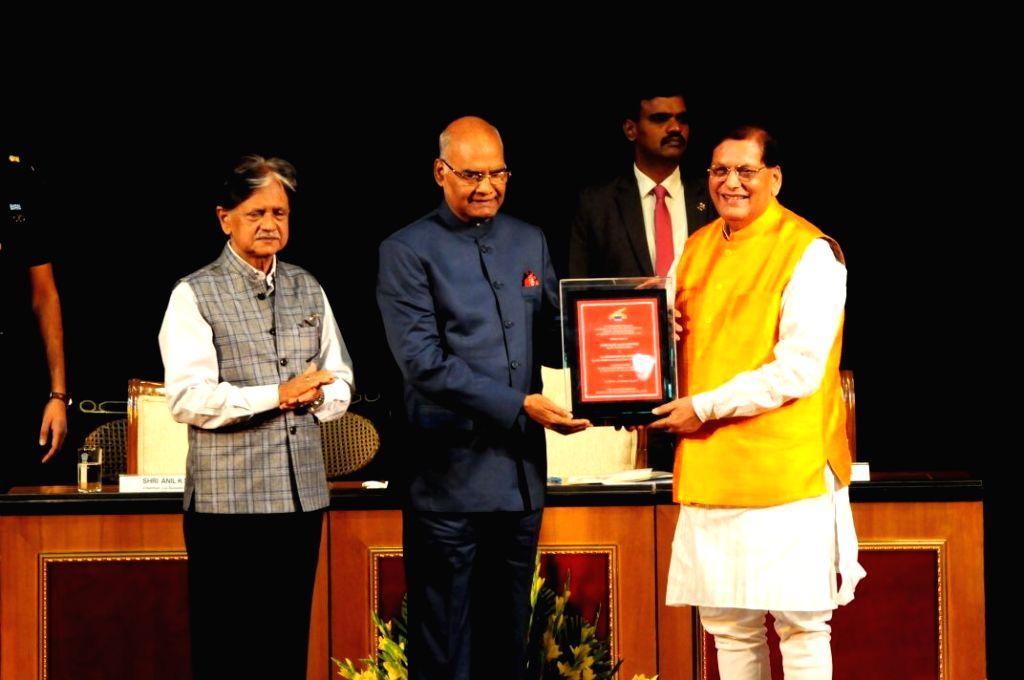 President Ram Nath Kovind confers Lal Bahadur Shastri Award award in New Delhi on Oct 10, 2017. - Nath Kovind