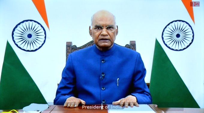 President Ram Nath Kovind delivers his inaugural address at Visitors??? Conference on ???Implementation of National Education Policy 2020 in Higher Education???, via video conferencing in ... - Nath Kovind