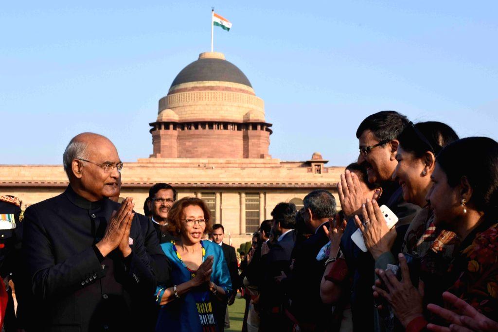 President Ram Nath Kovind during 'At Home' reception organised at at Rashtrapati Bhavan in New Delhi, on Jan 26, 2019. - Nath Kovind