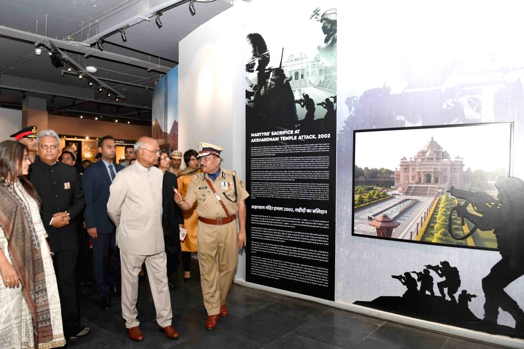 President Ram Nath Kovind during his visit to National Police Memorial on the annual 'Valour Day' of Central Reserve Police Force (CRPF), in New Delhi on April 9, 2019. - Nath Kovind