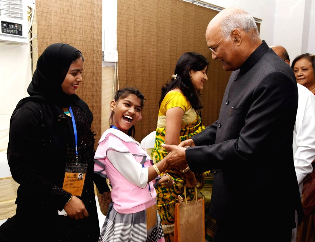 President Ram Nath Kovind during his visit to Pt. Deendayal Upadhyaya National Institute for Persons with Physical Disabilities under Ministry of Social Justice and Empowerment in New ... - Nath Kovind