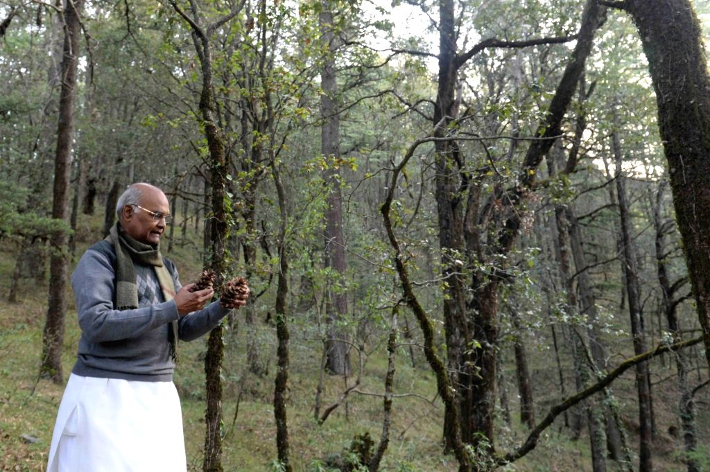 President Ram Nath Kovind during his visit to the Water Catchment Sanctuary, in Shimla on May 24, 2018. - Nath Kovind