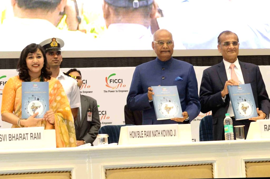 President Ram Nath Kovind during the 34th Annual Session of FICCI Ladies Organisation (FLO) at Vigyan Bhavan in New Delhi on April 5, 2018. - Nath Kovind