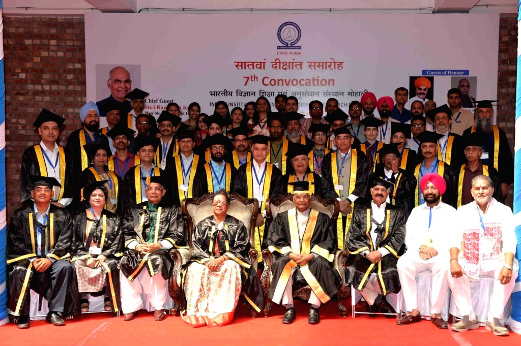 President Ram Nath Kovind during the 7th Convocation of Indian Institute of Science Education and Research (IISER) in Chandigarh on May 20, 2018. - Nath Kovind