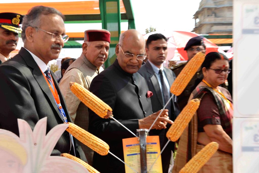 "President Ram Nath Kovind during the inauguration of International Conference ""Agricon 2018"" and ""Agriexpo 2018"", at Chandra Shekhar Azad University of Agriculture and ... - Nath Kovind"