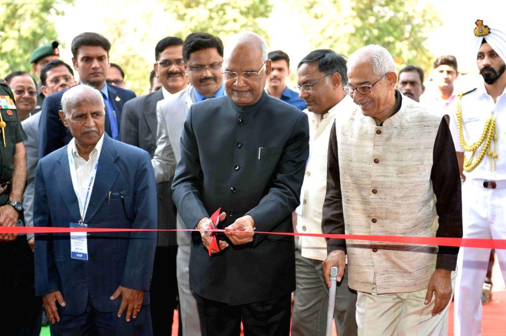 President Ram Nath Kovind inaugurates the Festival of Innovation and Entrepreneurship (FINE) 2019 in Gandhinagar, on March 15, 2019. - Nath Kovind