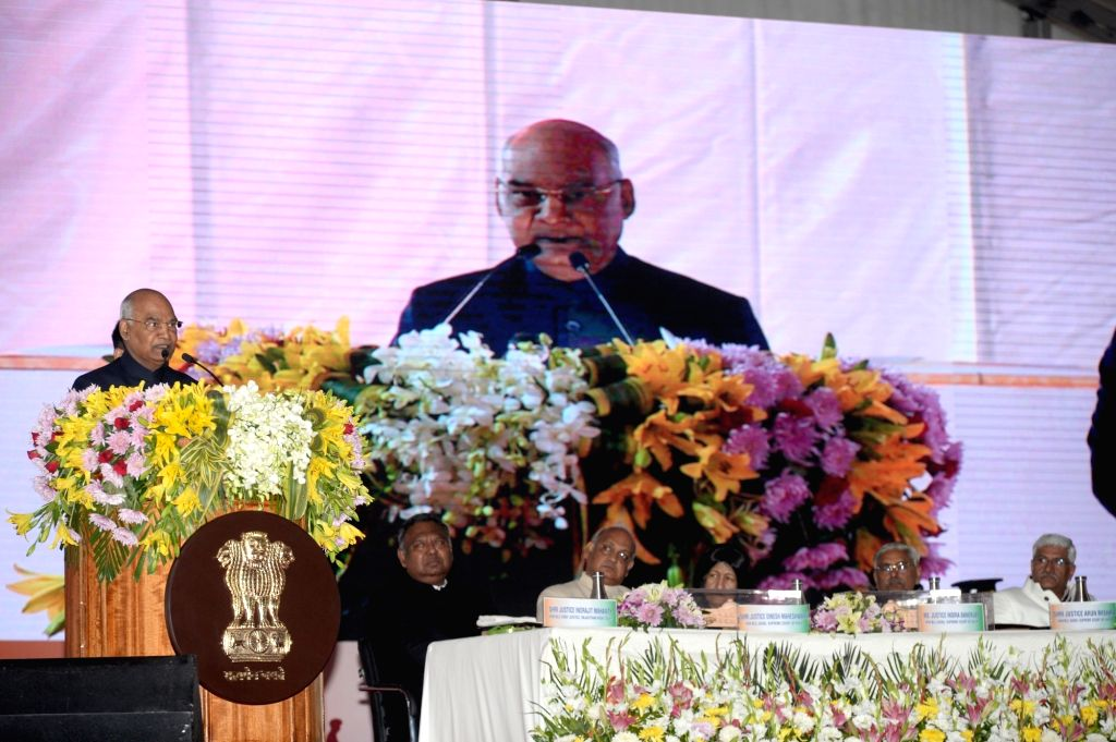 President Ram Nath Kovind inaugurating the new building of Rajsthan High Court at Jodhpur on Dec. 7, 2019. - Nath Kovind