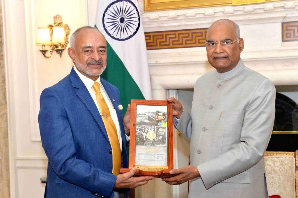 President Ram Nath Kovind meets Andaman and Nicobar Islands Lieutenant Governor Admiral (retd.) D.K. Joshi, in New Delhi on June 1, 2019. - Nath Kovind and K. Joshi