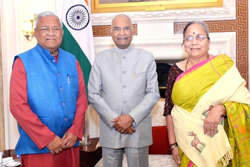 President Ram Nath Kovind meets Nagaland Governor Padmanabha Acharya, in New Delhi on June 1, 2019. - Nath Kovind
