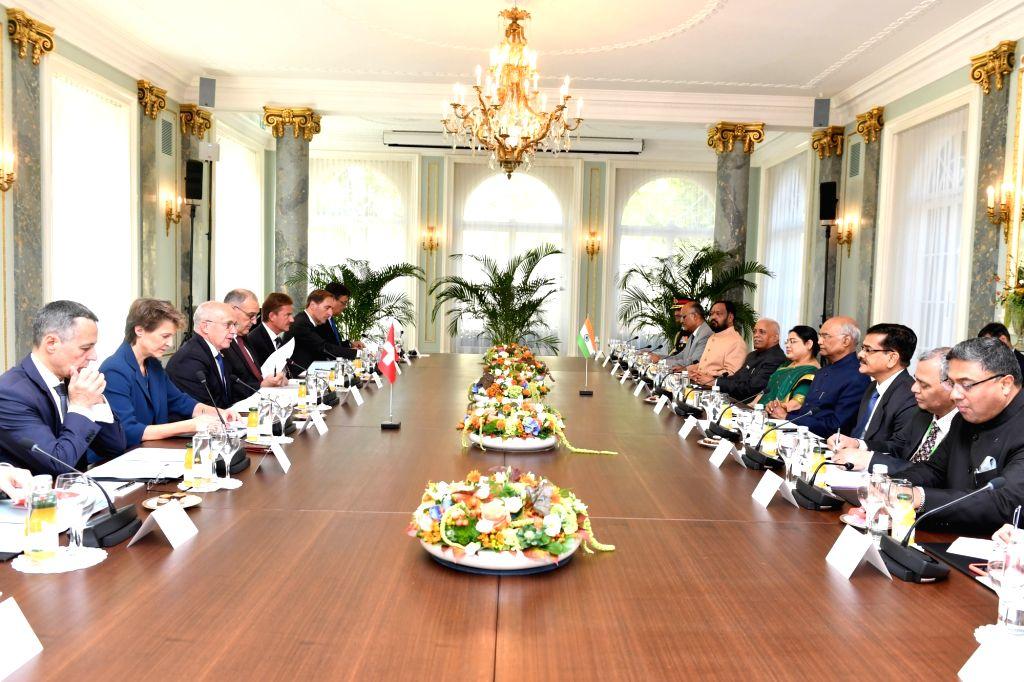 President Ram Nath Kovind participates during the delegation level talks at Bernerhof in Bern, Switzerland on Sep 13, 2019. - Nath Kovind