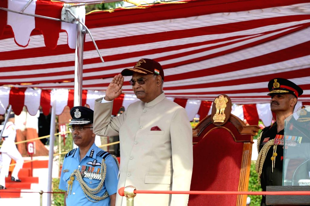 "President Ram Nath Kovind reviews the Passing Out Parade of ""34th Course of National Defence Academy (NDA)"", in  Khadakwasla, Maharashtra on May 30, 2018. - Nath Kovind"