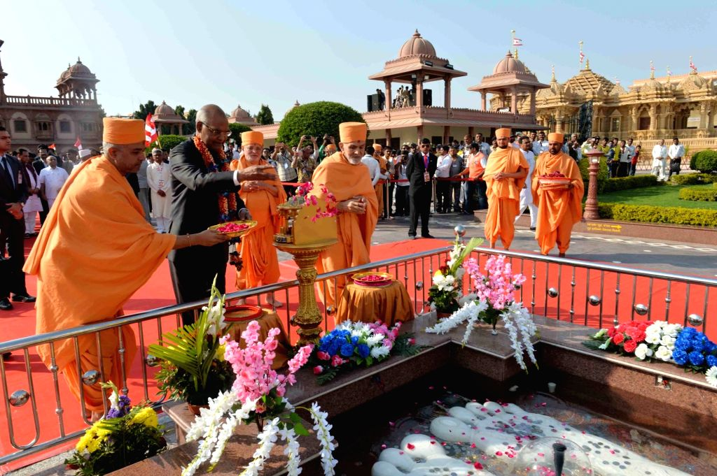 President Ram Nath Kovind visits Akshar Deri Shrine in Gondal of Gujarat on Jan 22, 2018. - Nath Kovind