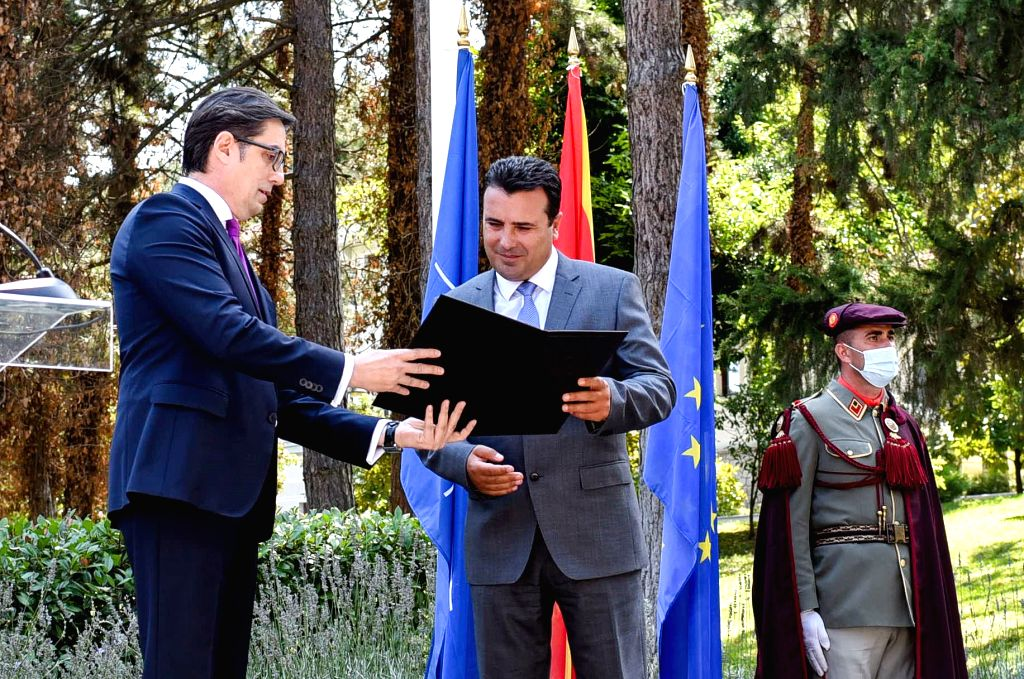 President Stevo Pendarovski of North Macedonia on Thursday handed the mandate for the formation of the new government to Zoran Zaev, leader of Social Democratic Union of Macedonia (SDSM), Media ...
