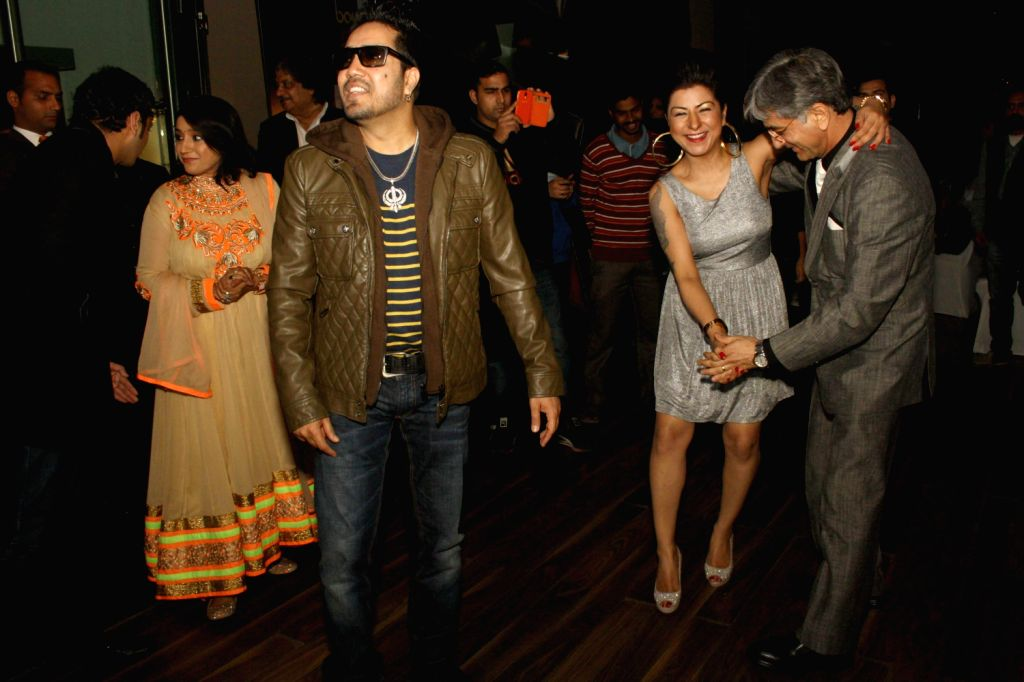 "Press conference and preview of ""MTV Bollyland"" music festival at Welcom Hotel, in New Delhi on December 20, 2013. Bollywood singers team up with the topmost DJs. The voices of Mika Singh, . - Mika Singh, Sunidhi Chauhan, Harshdeep Kaur, Kavita Seth and Shibani Kashyap"