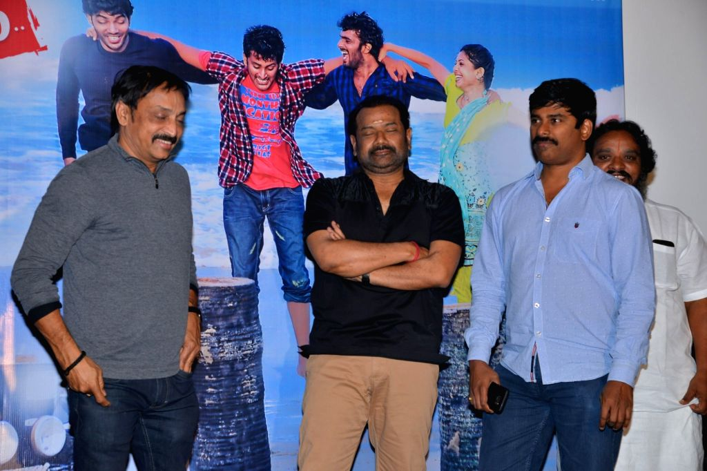 Press meet of Telugu film Chandrulo Unde Kundelu.