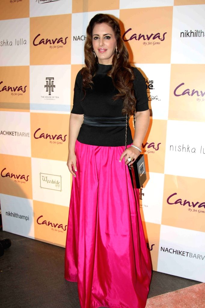 Pria Kataria Puri during the launch of jewellery brand, Canvas by Jet Gems in Mumbai on Dec 3, 2015.
