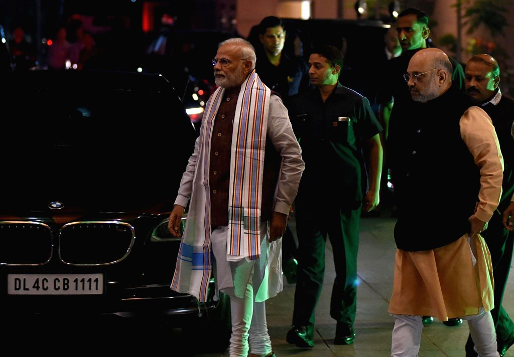 Prime Minister and BJP leader Narendra Modi and party chief Amit Shah. (Photo: IANS) - Narendra Modi and Amit Shah