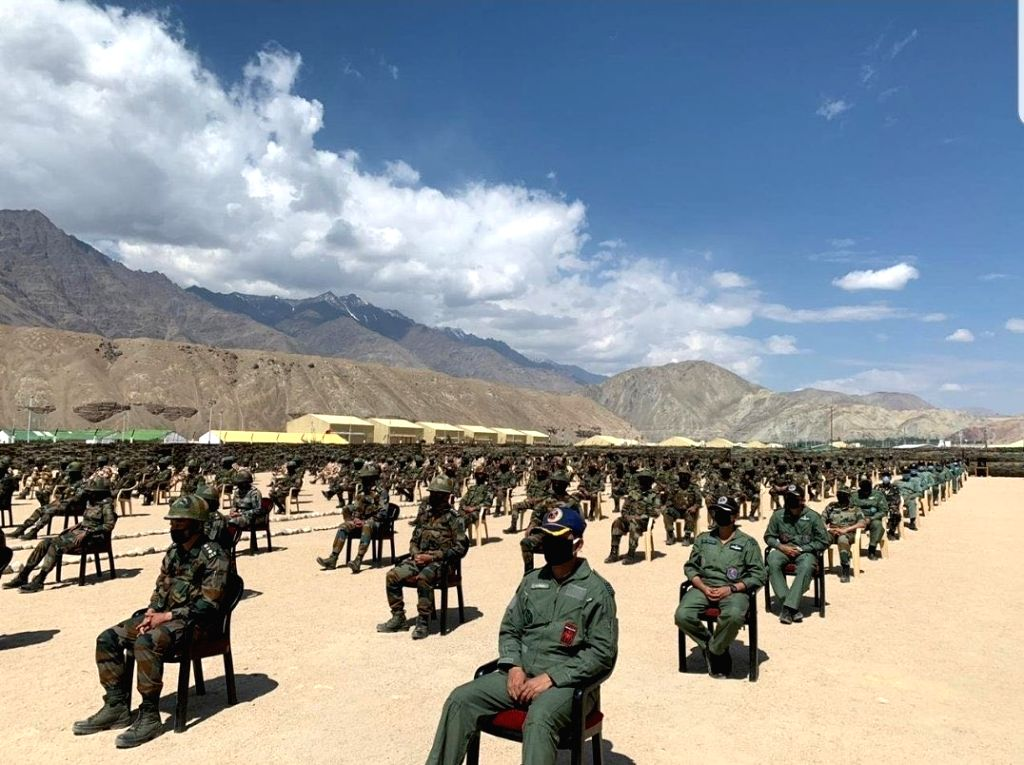 Prime Minister Narendra Modi, accompanied by Chief of Defence Staff General Bipin Rawat and Army Chief General Manoj Mukund Naravane, visited one of the forward locations in Nimu during their ... - Narendra Modi
