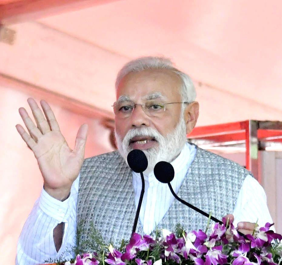 Prime Minister Narendra Modi addresses a public meeting in Karnataka's Kalaburagi, on March 6, 2019. - Narendra Modi