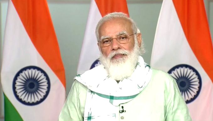 Prime Minister Narendra Modi addresses after virtually inaugurating the Girnar ropeway project in Rajasthan's Junagadh, from New Delhi on Oct 24, 2020. - Narendra Modi