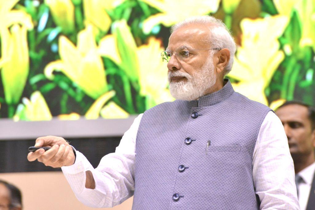Prime Minister Narendra Modi addresses at Construction Technology India 2019, in New Delhi on March 2, 2019. - Narendra Modi