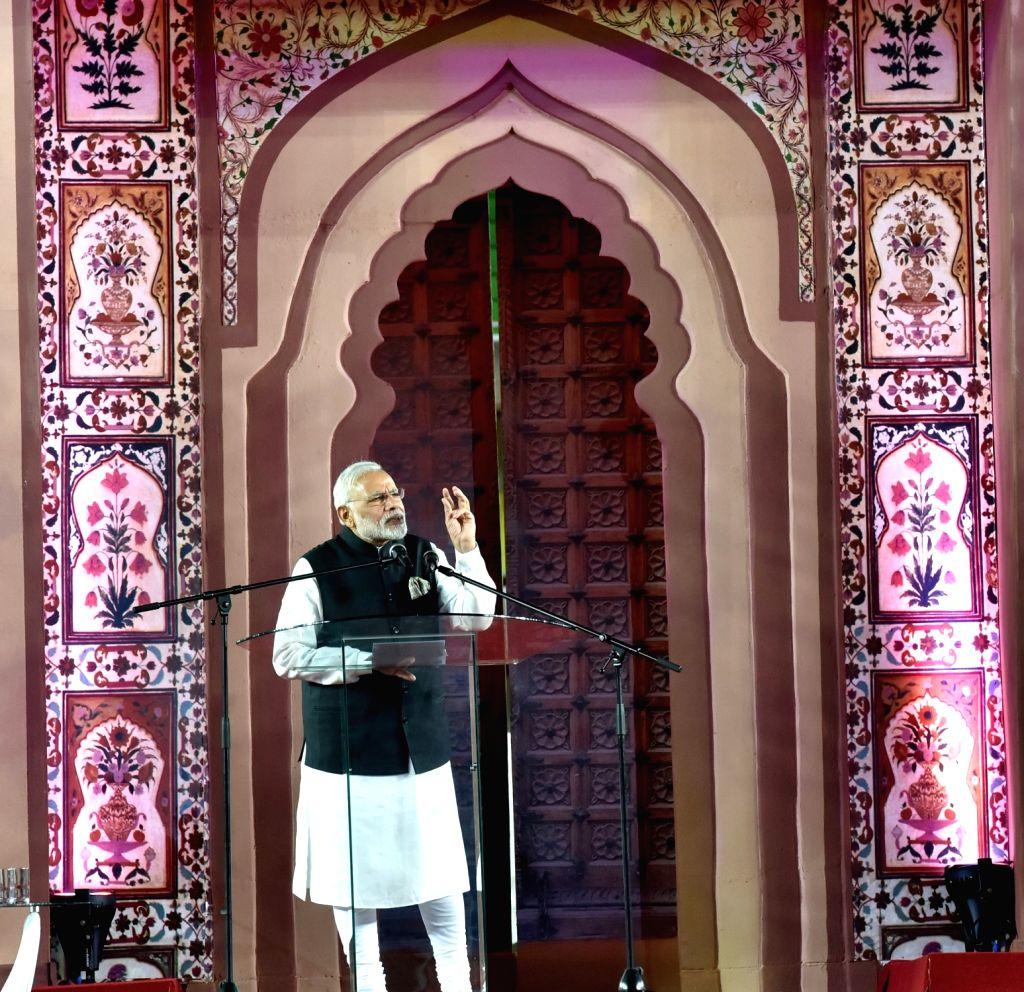 Prime Minister Narendra Modi addresses at a Community Reception event organised at Kasarani Stadium, in Nairobi, Kenya on July 10, 2016. - Narendra Modi