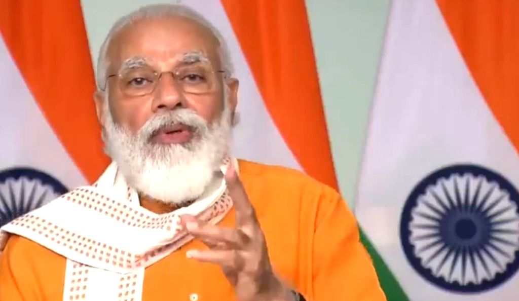 Prime Minister Narendra Modi addresses at the Grand Finale of Smart India Hackathon 2020, in New Delhi on Aug 1, 2020. - Narendra Modi