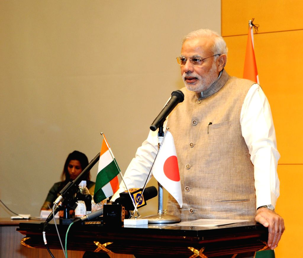 Prime Minister Narendra Modi addresses at the University of Sacred Heart in Tokyo, Japan on September 02, 2014. - Narendra Modi